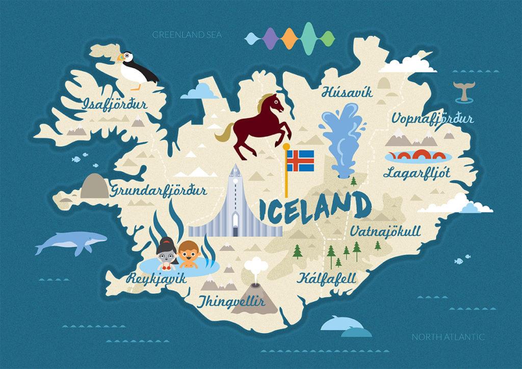 Mapa turístico de Islandia