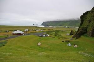 Vista espectácular del camping de Vik. Foto de Thierry Selva.