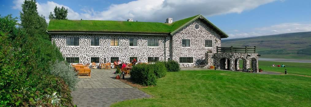 Granja de Skriðuklaustur una de las más grandiosas de Islandia.