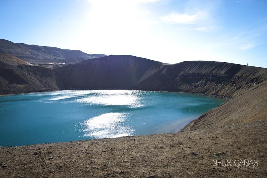 Lago de Viti, en el complejo volcánico de Askja.  Foto ©Neus Cañas.