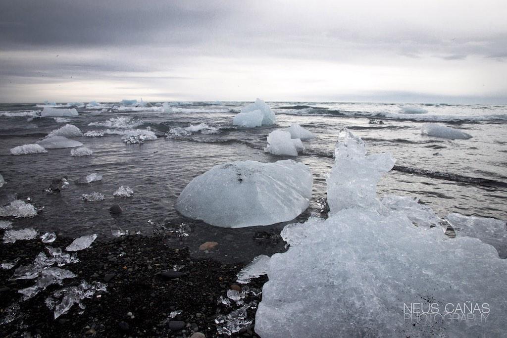 Lago glaciar de Jokulsarlon en una gran foto de ©Neus Cañas.