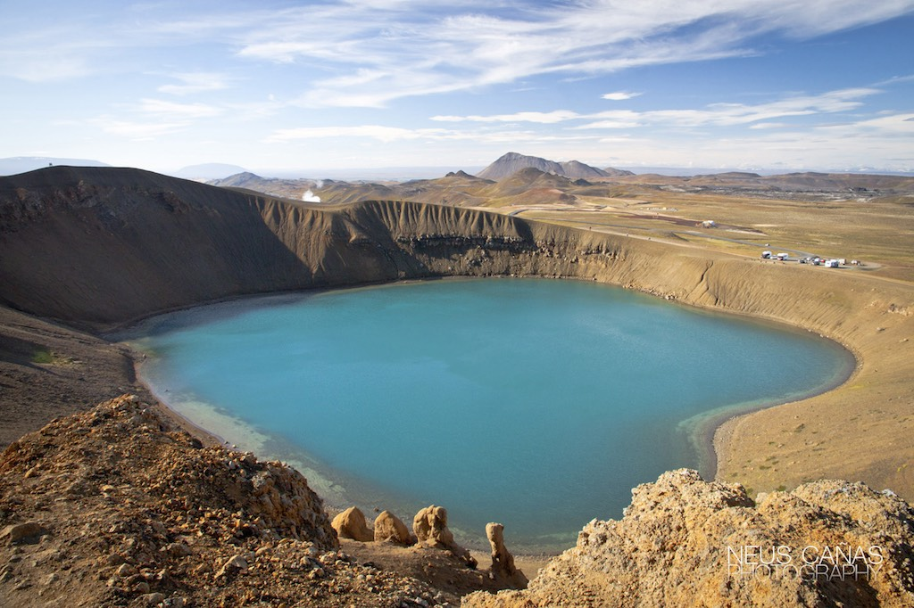 Lago de Viti, en la zona del volcan Askja. Precioso. Foto de ©Neus Cañas.