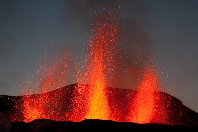 Erupción de 2010 del Eyjafjallajökull. Foto de Olikristinn