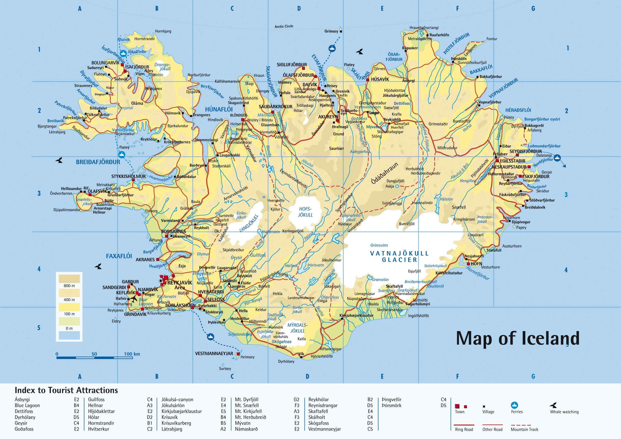 Mapas De Islandia Mapa Carreteras Islandia Mapa Turistico