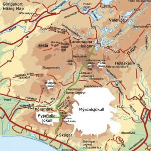 Mapa de Landmannalaugar.