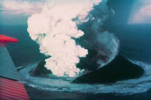 La erupción de 1963-1967 causó gran interés en todo el mundo.