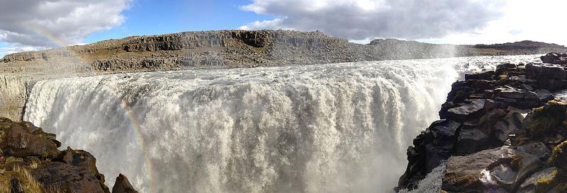 La cascada de Dettifoss es la más caudalosa de Europa.