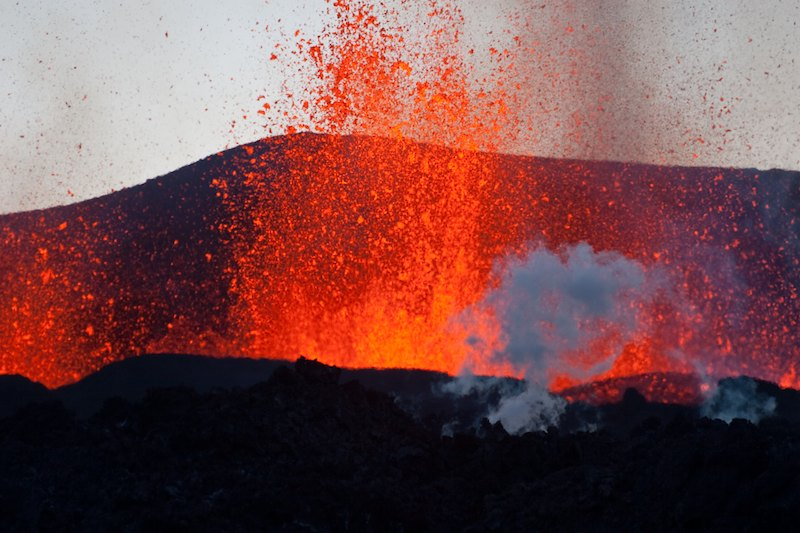 Erupción en Rangarvallasysla. Foto ce Ólafur Kr. Ólafsson.