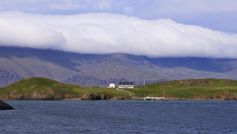 La hermosa isla Viðey, a 1 kilómetro de Reykjavik. Foto de Mundilfari*.