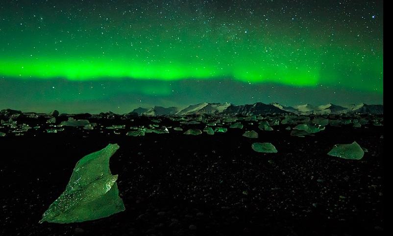 Aurora boreal en junio. Foto de Anders Tomasson.
