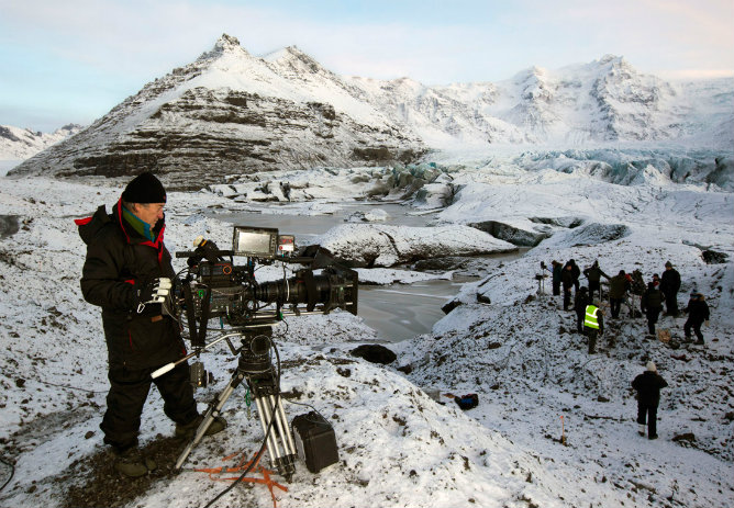 Rodaje de Juego de Tronos en Islandia. Frío intenso en un localizaciones de una belleza única. HBO.